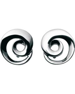 These are the Georg Jensen Sterling Silver Möbius Earrings.