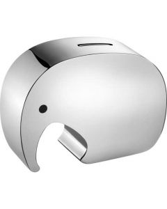 Moneyphant Money Box, crafted out of stainless steel with a mirror finish.