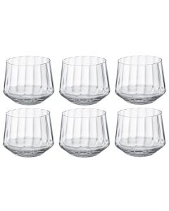 These are the Crystal Glass Set of 6 Bernadotte Tumbler Glasses designed by Georg Jensen.