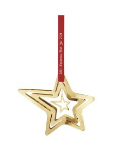 This is the Georg Jensen 18 KT. Gold Plated 2021 Shooting Star Christmas Mobile.