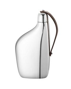 This is the Georg Jensen Stainless Steel Sky Hip Flask.