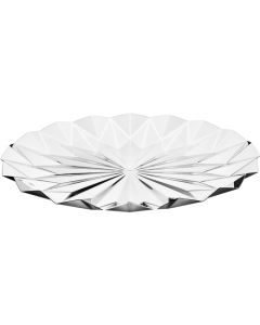 Georg Jensen Supernova Tray in Stainless Steel with a mirror finish inspired by origami and kaleidoscopes.