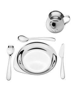 Georg Jensen Tableware Gift Box - 5 Pieces with a mirror finish.