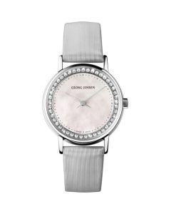 Georg Jensen White Mother-of-pearl and Diamond Koppel Watch.