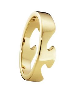 Georg Jenson yellow gold fusion ring.