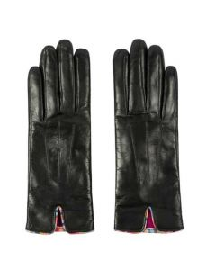 This pair of Paul Smith leather gloves are come in black.