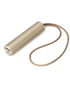 This light gold tube power bank is part of Lexon's fine collection.