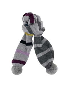This Paul Smith grey scarf comes with a multi stripe design.