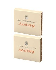 These are the Graf von Faber-Castell Burned Orange Ink Cartridges 2 x Pack of 6.