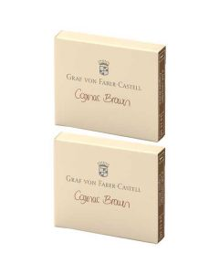 These are the Graf von Faber-Castell Cognac Brown Ink Cartridges 2 x Pack of 6.