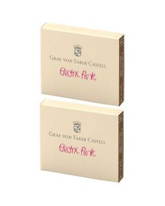 These are the Graf von Faber-Castell Electric Pink Ink Cartridges 2 x Pack of 6.