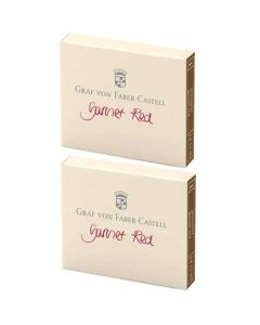These are the Graf von Faber-Castell Garnet Red Ink Cartridges 2 x Pack of 6.
