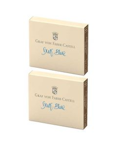These are the Graf von Faber-Castell Gulf Blue Ink Cartridges 2 x Pack of 6.