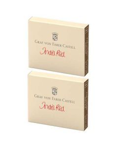 This is the Graf von Faber-Castell India Red Ink Cartridges 2 x Pack of 6.