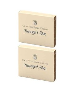 These are the Graf von Faber-Castell Midnight Blue Ink Cartridges 2 x Pack of 6.