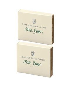 These are the Graf von Faber-Castell Moss Green Ink Cartridges 2 x Pack of 6.
