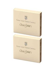 These are the Graf von Faber-Castell Olive Green Ink Cartridges 2 x Pack of 6.