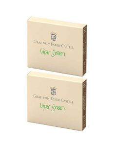 These are the Graf von Faber-Castell Viper Green Ink Cartridges 2 x Pack of 6.