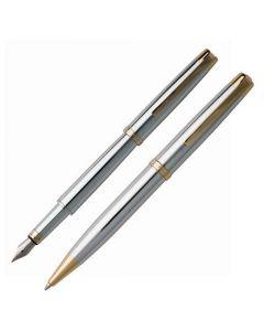 Full view of both Hugo Boss Diverse Gold pens.