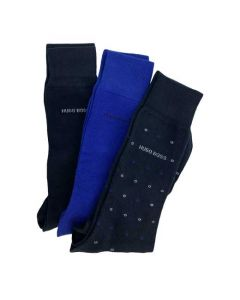 This pack of Hugo Boss cotton socks comes with 3 pairs for everyday use.
