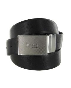 This Hugo Boss black leather belt is part of their Icon range.