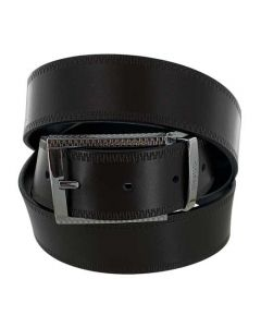 This Hugo Boss belt comes with a brown/black reversible leather strap.