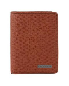 BOSS Tanned Brown Leather 'Tress' Card Case.