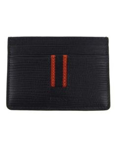 This Hugo Boss leather card holder comes with a stripe down the front.