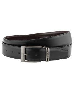 Hugo Boss black leather belt.