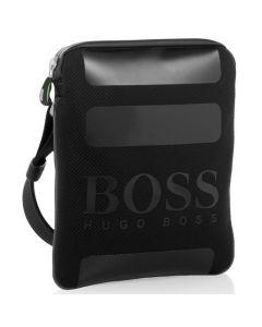 Green Trisko Messenger Bag in Black