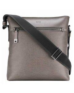 This stylish Hugo Boss grey cross body bag comes with an adjustable strap.