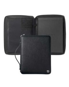 This a5 black conference folder has been designed by hugo boss.