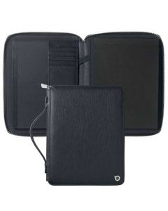 This a5 navy conference folder has been designed by hugo boss.