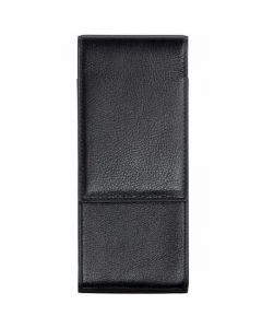 This is the LAMY Grained Leather Black 3 Pen Pouch.