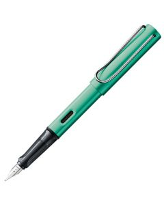 The LAMY blue green fountain pen in the AL-Star collection.