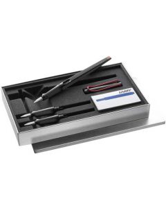 This is the LAMY Joy AL Glossy Black Calligraphy Fountain Pen Set.