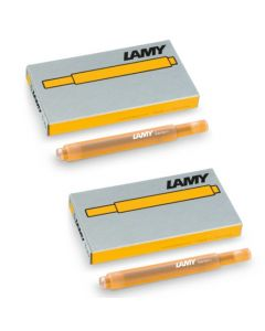 These are the LAMY T 10 Mango Ink Cartridges.
