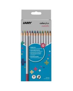 These are the LAMY Colourplus Metallic Pencils Pack of 12.
