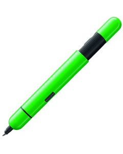 This neon green ballpoint pen has been designed by LAMY.