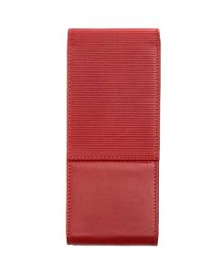 This is the LAMY Nappa Leather Red 3 Pen Pouch.