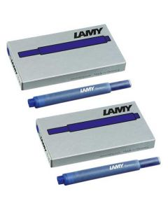 The LAMY blue pack of five ink cartridges.