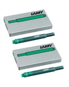 The LAMY green pack of five ink cartridges.