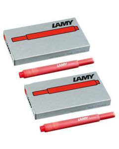 The LAMY red pack of five ink cartridges.