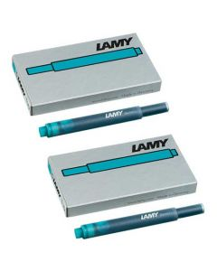 The LAMY turquoise pack of five ink cartridges.