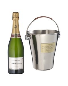 This Laurent Perrier champagne gift set comes with a ice bucket and magnum bottle of brut champagne.
