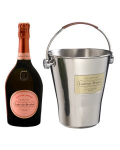 Laurent-Perrier Magnum Cuvée Rosé Champagne and Ice Bucket Gift Set.