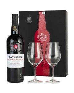 Taylor's 2015 Late Bottled Vintage and 2 Glasses Gift Set.