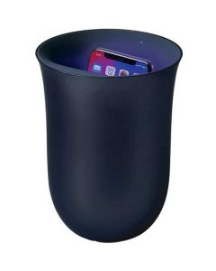 This is the LexonWireless Oblio Dark Blue Charging Station with Built-In UV Sanitiser.