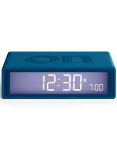This is the Lexon Flip + Duck Blue Alarm Clock.