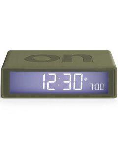 This is the Lexon Flip + Khaki Alarm Clock.